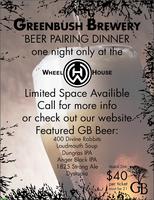 Greenbush Brewery Beer Pairing Dinner