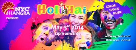 NYC Bhangra's 5th Annual Holi Hai Fest in New York City