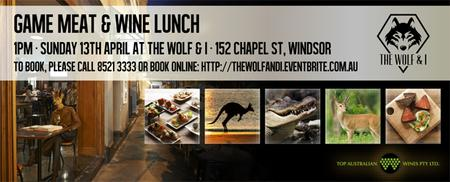 Wild Game Food & Wine Tasting Lunch