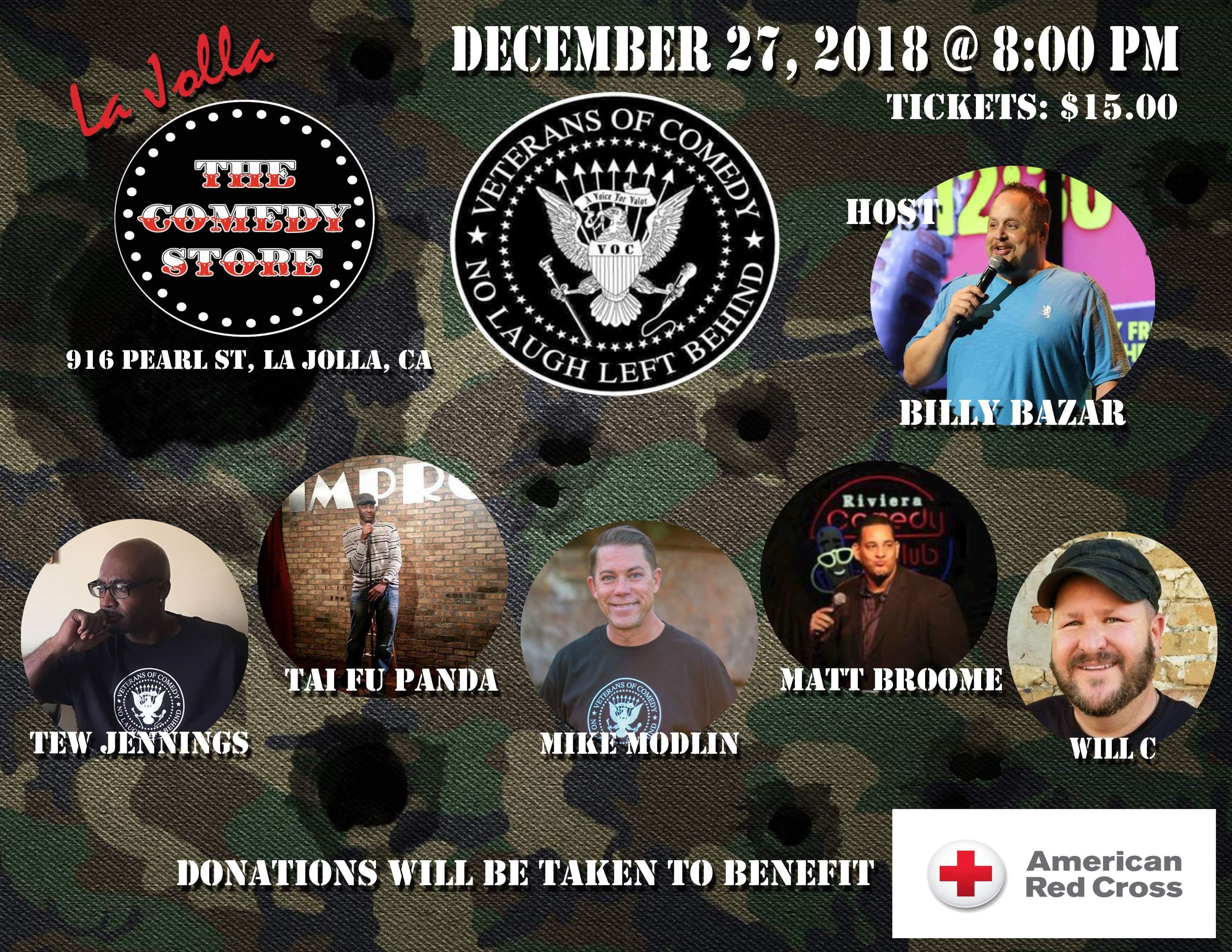 Veterans of Comedy - Thursday - 8pm