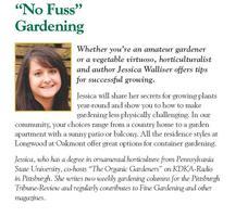 "Longwood at Oakmont hosts Jessica Walliser: ""No Fuss""..."