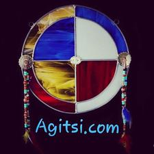 Agitsi Stained Glass  logo