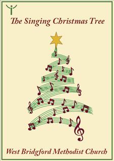 Singing Christmas Tree at West Bridgford Methodist Church logo