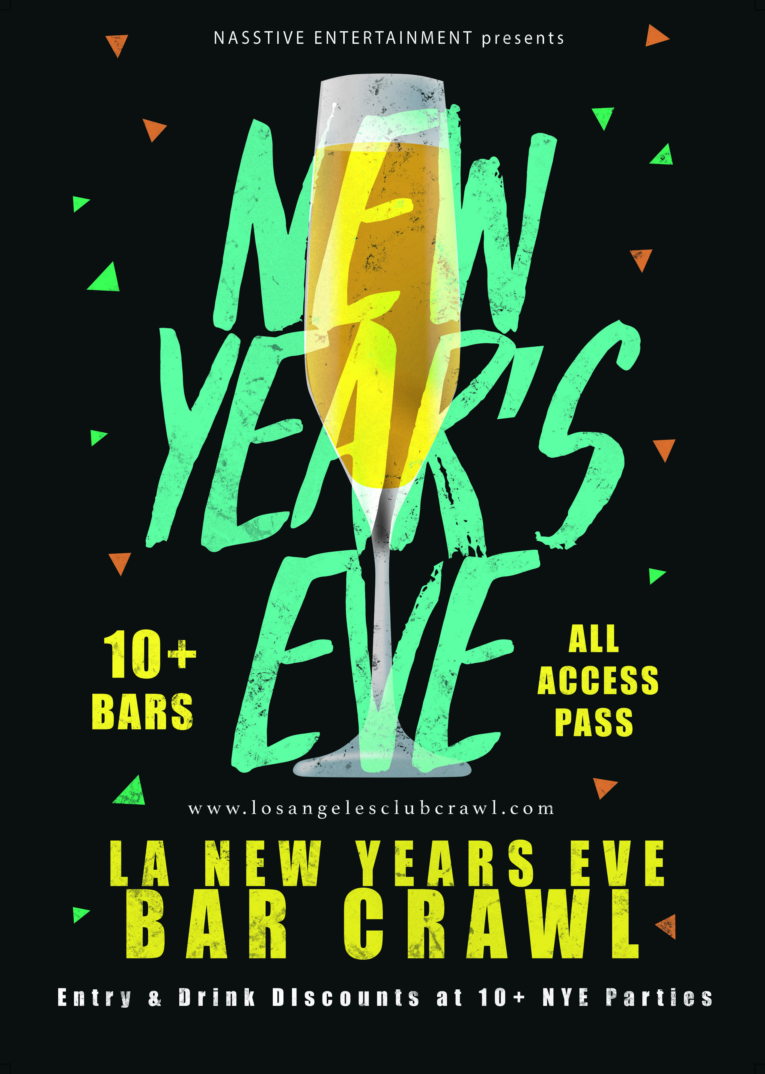 New Years Eve 2019 Los Angeles Bar Crawl - NYE All Access Pass to 10+ Venues