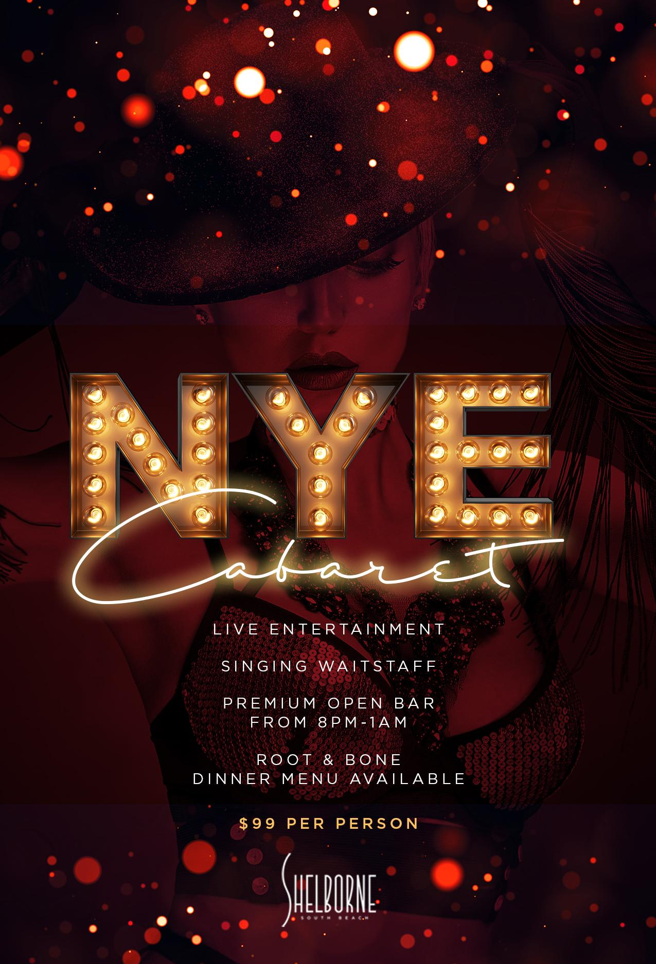 New Year's Eve Cabaret 2019 at Shelborne South Beach