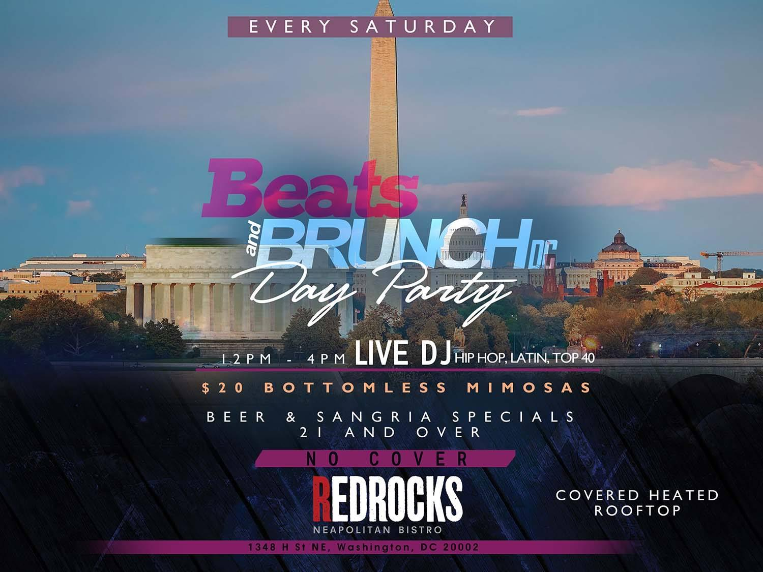 Beats And Brunch DC Rooftop Day Party l JAN 19