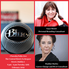 Pauline Harley and Gaye Moore #TuesdayTalks logo