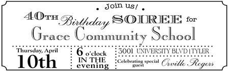 GCS 40th Birthday Soiree