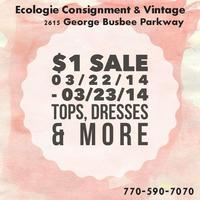 Ecologie Consignment and Vintage Dollar Sale