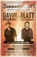 Summer Krush • Gavin Degraw & Matt Nathanson • special...