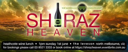 Shiraz Heaven Heathcote Wine Lunch at The Leveson