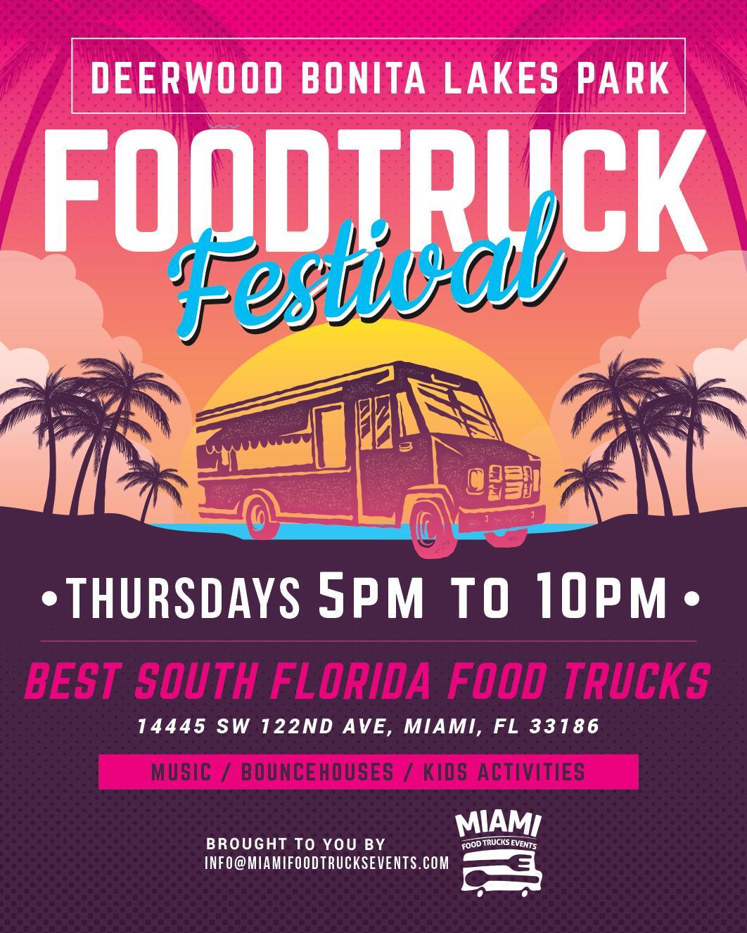 Deerwood lakes park food Trucks Festival