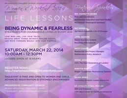 WOMEN'S WEEKEND 2014 - LIFE LESSONS: BEING DYNAMIC AND...