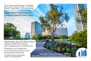 3rd Annual Kaiser Center Roof Garden Showcase