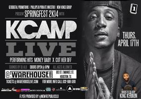 KCAMP IN CONCERT AT WAREHOUSELIVE | APRIL 17TH | 8PM...
