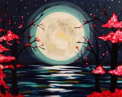 'Twilight Moon' Paint & Sip @ Lonnie's Art Gallery