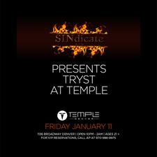 SINdicate L.T.D Presents TRYST at Temple logo