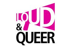 Loud and Queer logo