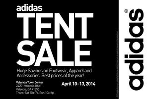 adidas Giant Tent Sale in Valencia, CA!