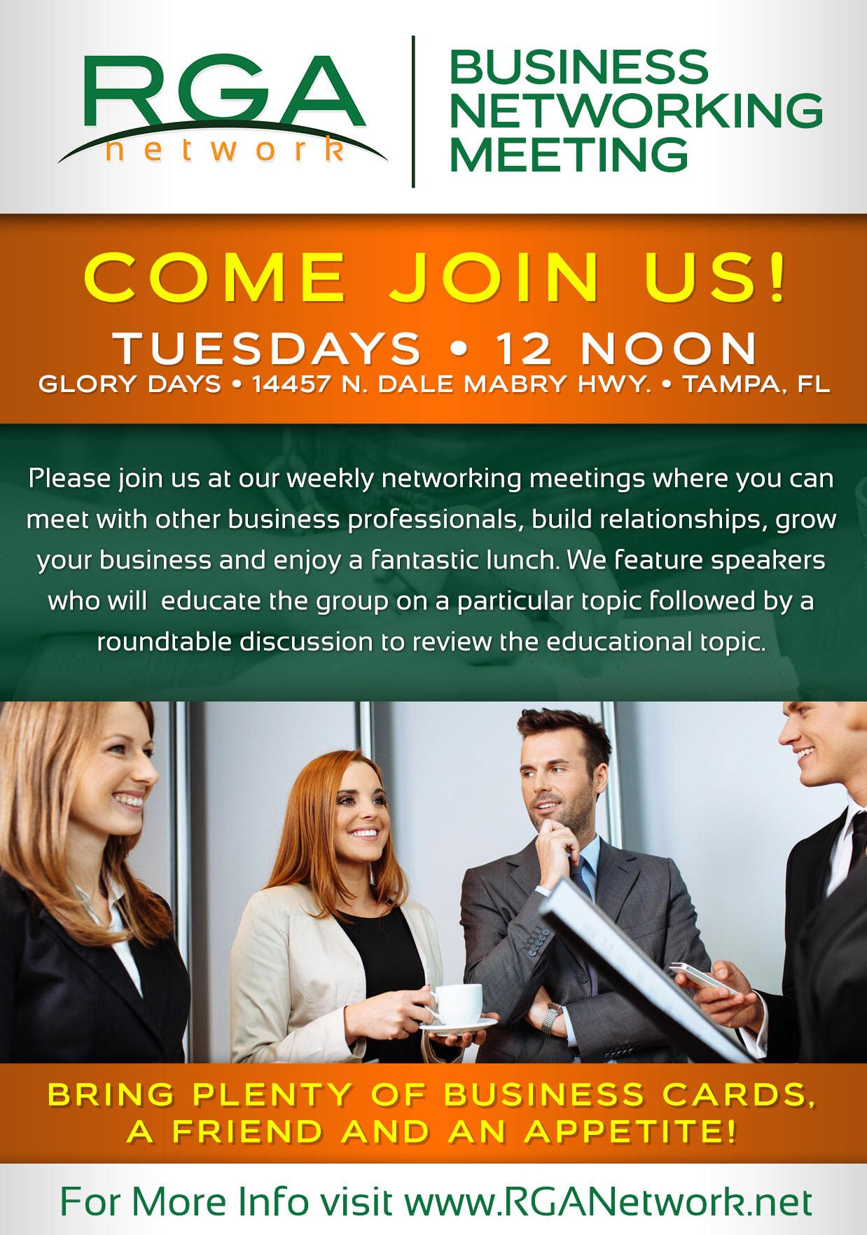 Referrals are Us Business Networking Tuesday Carrolwood McAllisters