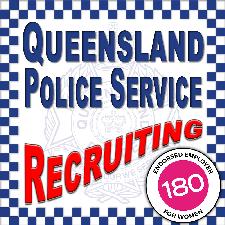 QUEENSLAND POLICE RECRUITING logo
