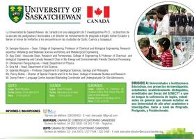Conferencia: Saskatchewan University - Canadá