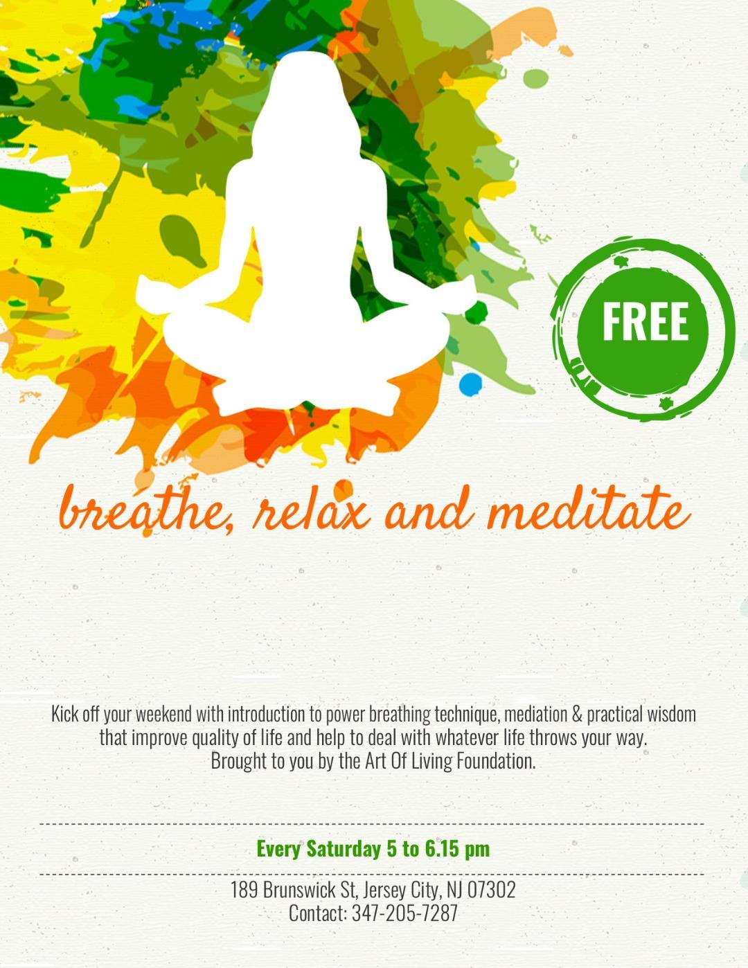Free Meditation & Introduction to the Happiness Program