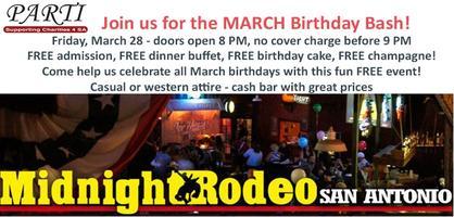 Friday Birthday Bash at Midnight Rodeo - Celebrating...