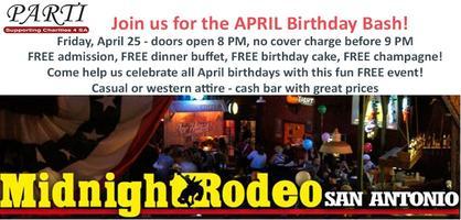 April  Birthday Bash at Midnight Rodeo