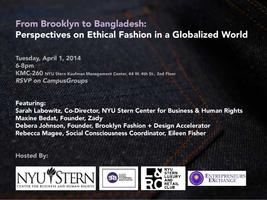 From Brooklyn to Bangladesh: Ethical Fashion in a...