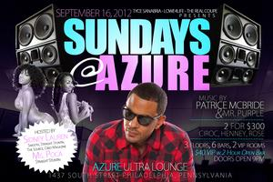 Sunday's at Azure - Hosted by Sidney Lauren & Ms. Poca...