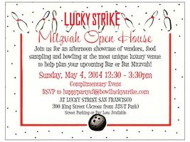Lucky Strike Bar/Bat Mitzvah Open House