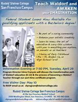 April 29 Information Evening: Become a Waldorf Teacher!