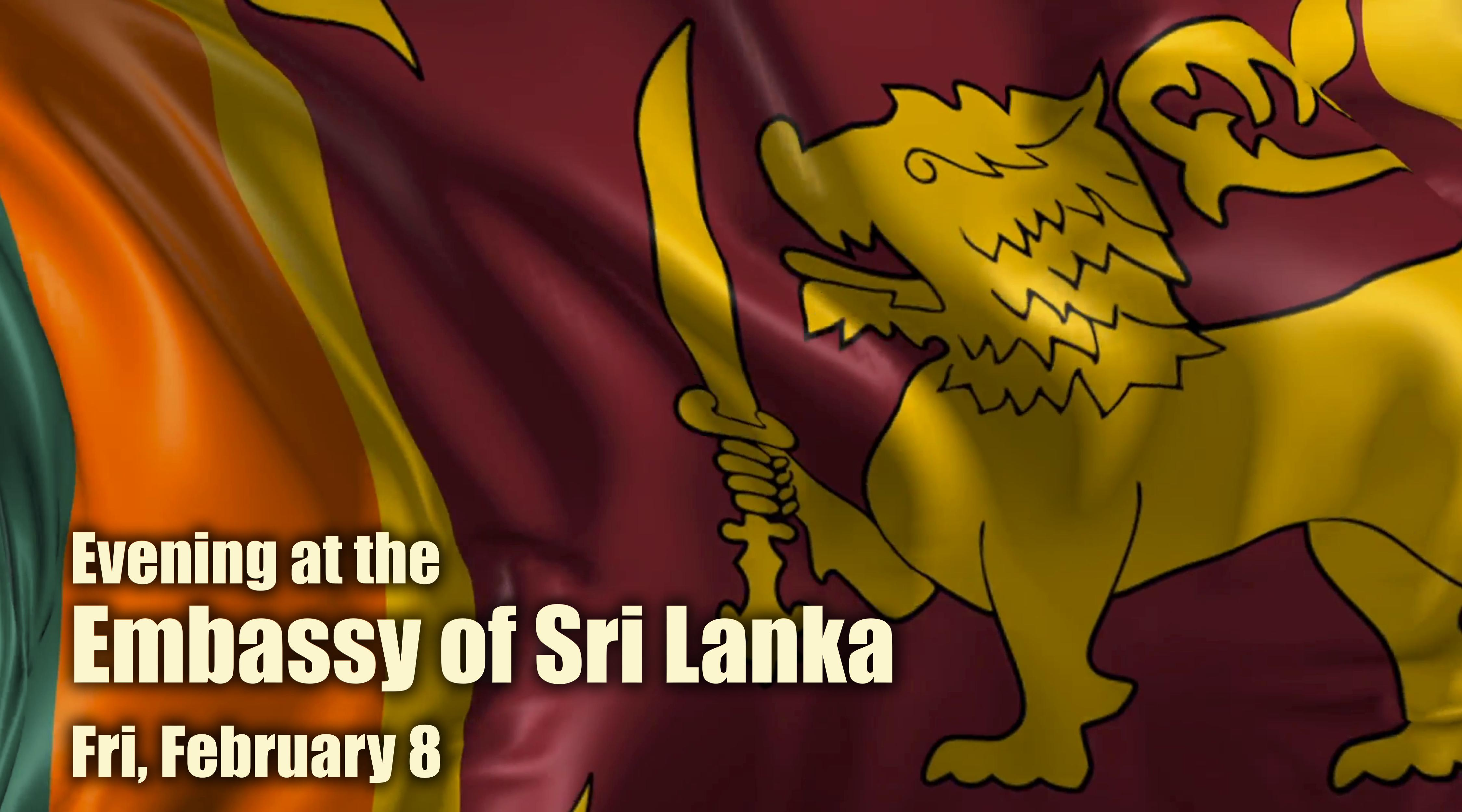 Evening at the Embassy of Sri Lanka