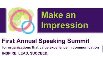 First Annual Speaking Summit (May 8th)