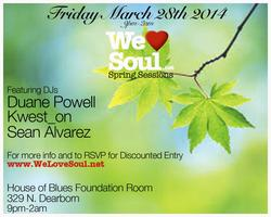 Friday March 28th: We Love Soul Spring Sessions
