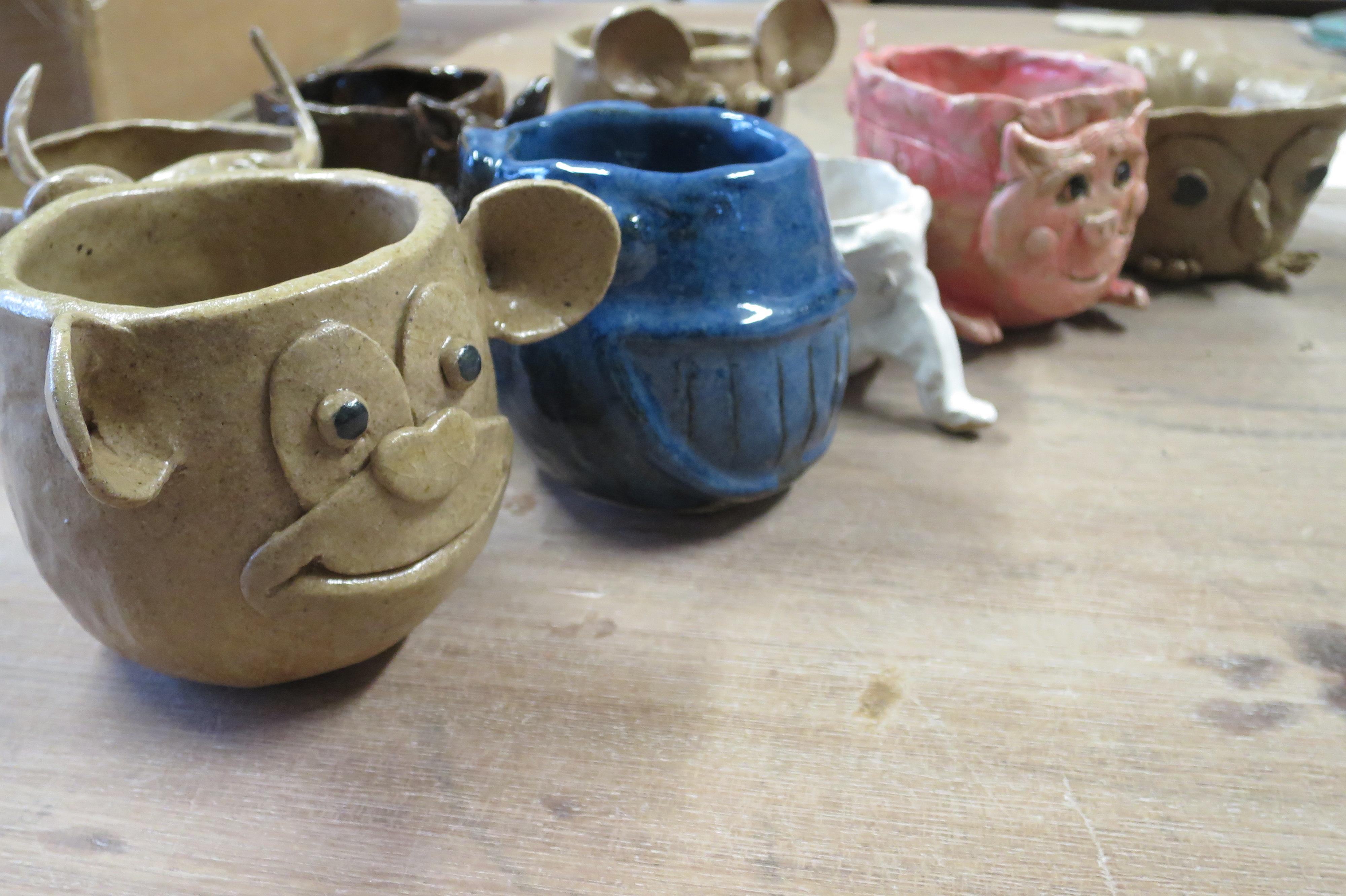Fun pottery class on Thursday evening