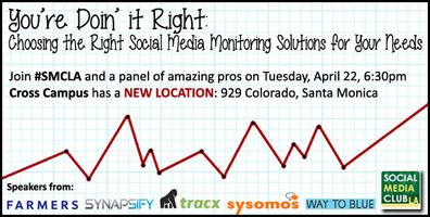 SMCLA Presents You're Doin' It Right: Choosing the...