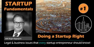 Startup Fundamentals Workshop #1 - Doing a Startup Right and Avoiding the Most Common Mistakes and Pitfalls