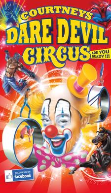 Courtney's Daredevil Circus logo