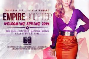 Welcome Spring Afterwork at Empire Rooftop