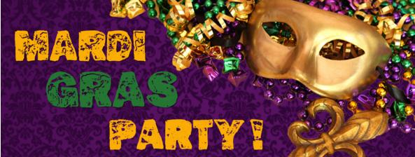 Mardi Gras Party In NYC - Appetizers, 2 For 1 Drinks, Beads, DJ, Dancing
