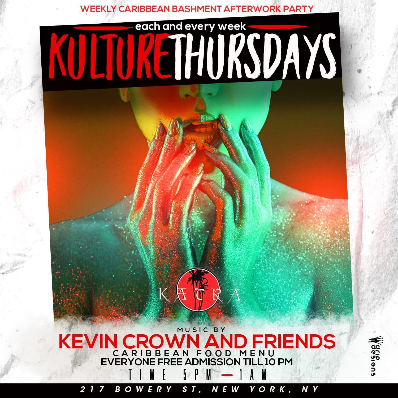 Kulture Thursdays | The Caribbean Afterwork Experience | Happy Hour 5 - 8