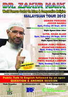 Dr Zakir Naik Malaysian Tour 2012 ( PWTC )