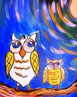 Canvas Painting Class - Night Owls