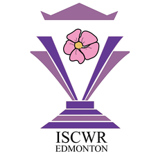 The Imperial Sovereign Court of the Wild Rose (ISCWR) logo