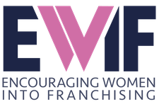 EWIF (Encouraging Women Into Franchising) logo