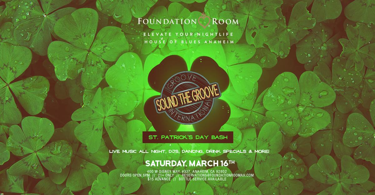 21+/ St Patrick's Day Pre Party | House of Blues Anaheim