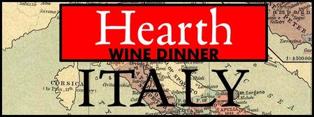 Veneto Dinner at Hearth, April 29th