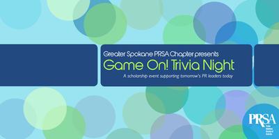 Greater Spokane Chapter PRSA Game On! Trivia Night